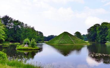 Prince Pückler's pyramid in the garden of Branitz Castle