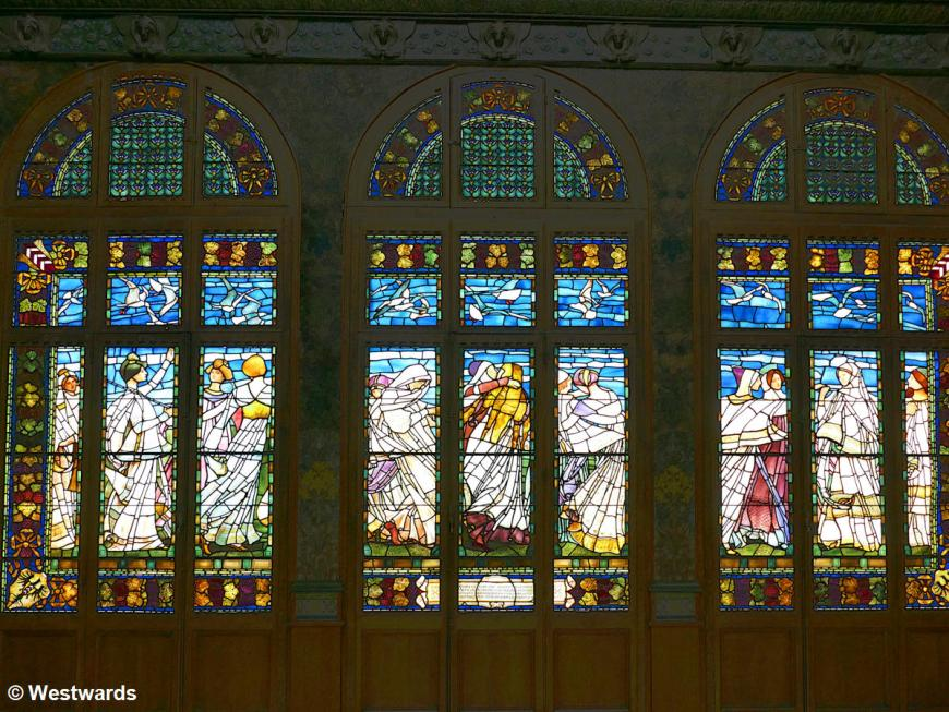 Stained glass windows at the Neuchatel Art Museum