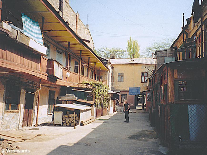 Local street in Odessa, in 2001
