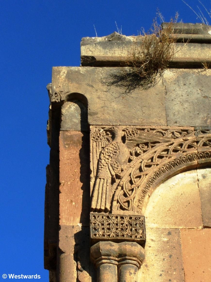 Carved stone detail on the Church of St.Gregory