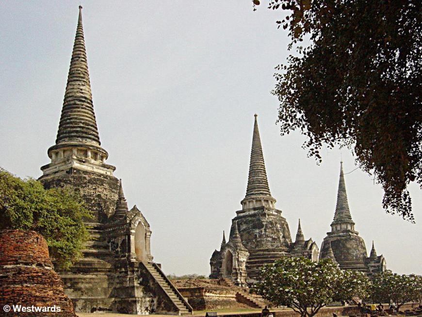 Chedhis (stupas) in the Wat Si Sanphet temple in Ayutthaya