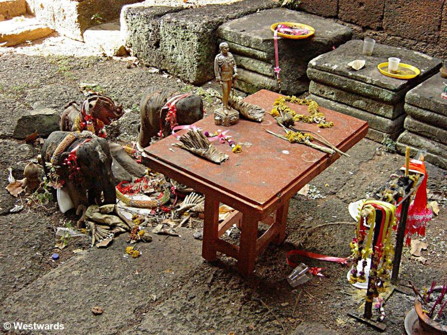 Traditional belief at a shrine in Sukhothai