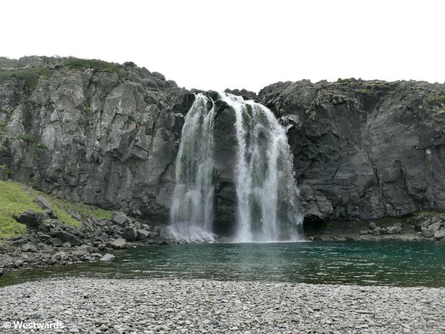 A nameless waterfall near Bildudalur, without Iceland tourists