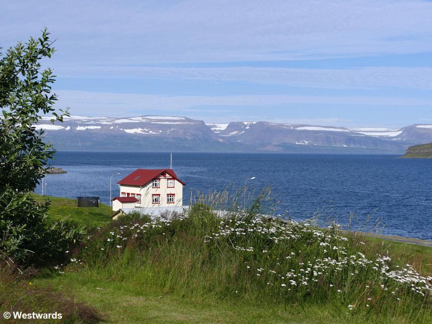 View of the Hornstrandir peninsula from Sudavik, Iceland
