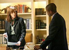 Image result for the west wing season 7 charlie and cj