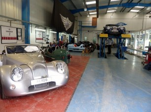 Morgan Cars, ready for delivery.