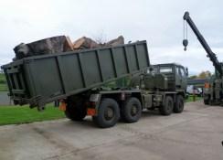 Heavy lifting gear.