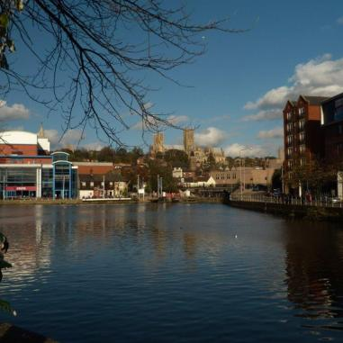 12 Lincoln Cathedral from Brayford Pool. November. 2014. 082