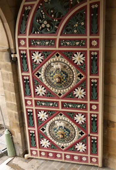 One of the 18th century cast iron doors.
