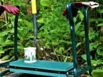 Gardener at work. 02. BW.