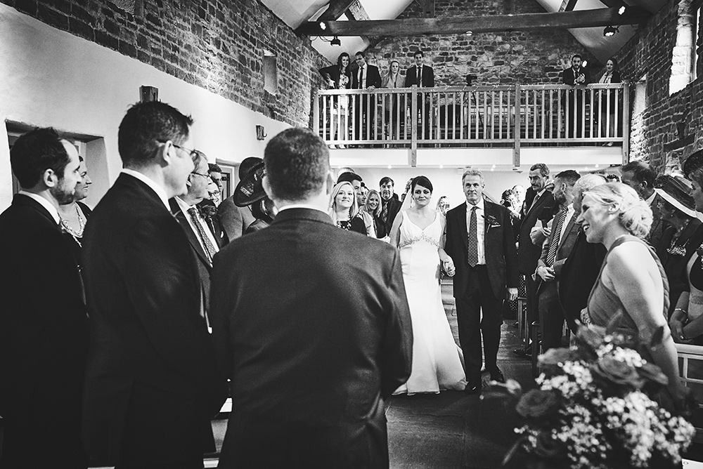 Bride and father - The ceremony