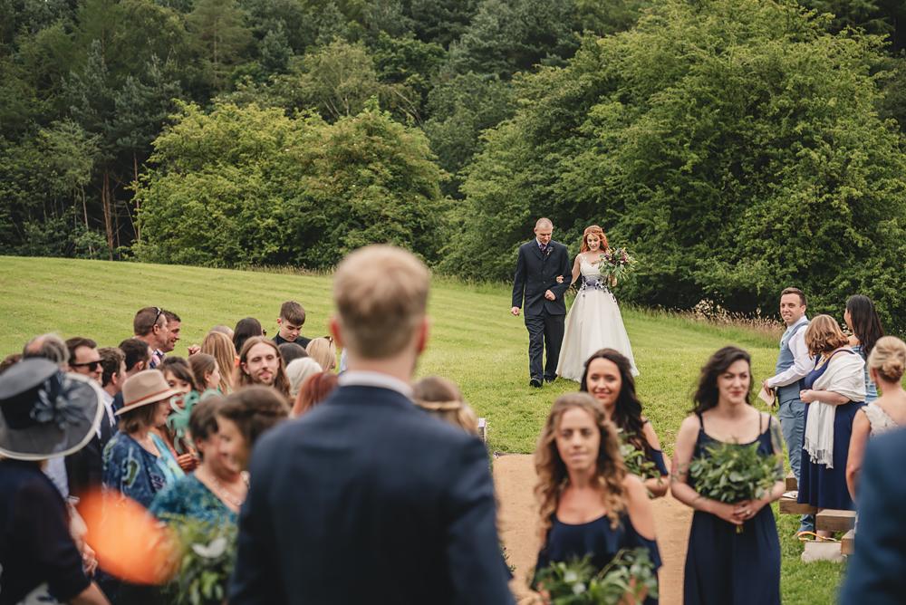 Brides entrance at Whitebottom Farm in Stockport