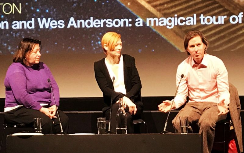 Delighted and spellbound to spend last night at BFI with Tilda Swindon & Wes Anderson