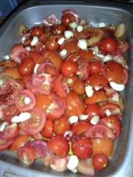 tomato, garlic & chillies