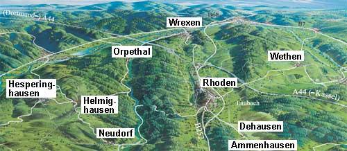 Diemelstadt mit Ortsteilen