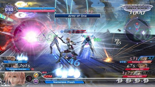 Dissidia Final Fantasy NT Combat with Lightning