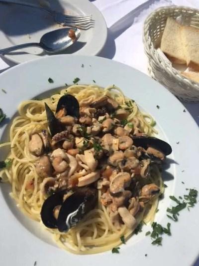 Seafood Spaghetti Best Food in Budva, Montenegro -