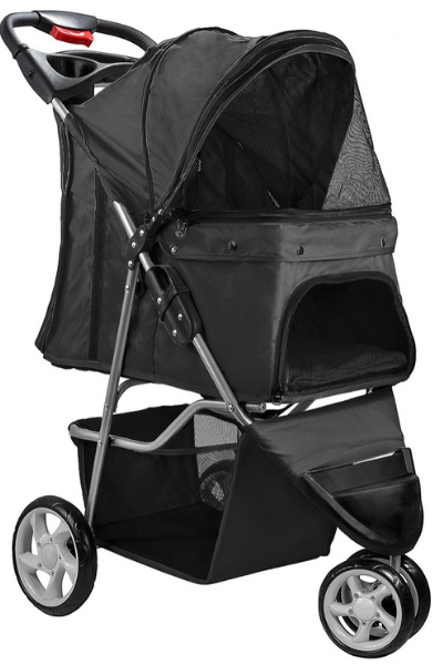 Yorkie Stroller_Gifts for Yorkies + Small Dogs: A Traveling Yorkie's Wish List