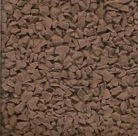 Brown wet pour rubber granules