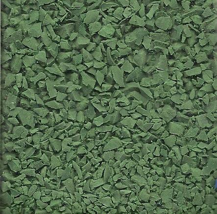 Wet pour granules rubber dark green colour sample