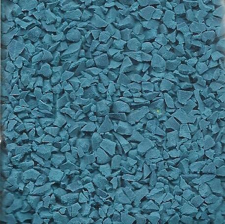 Wet pour rubber granules sample teal colour