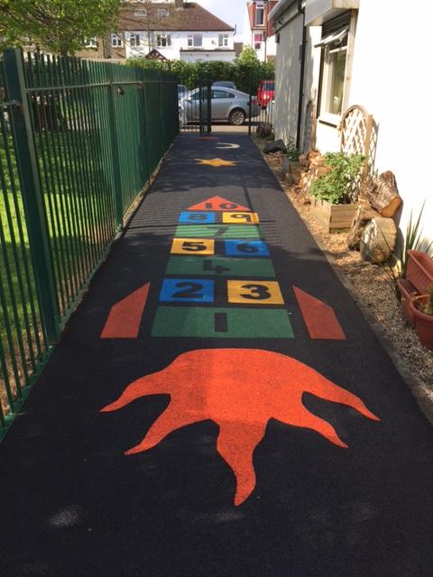rubber playground flooring colourful children