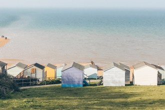 Whitstable cabins panorama