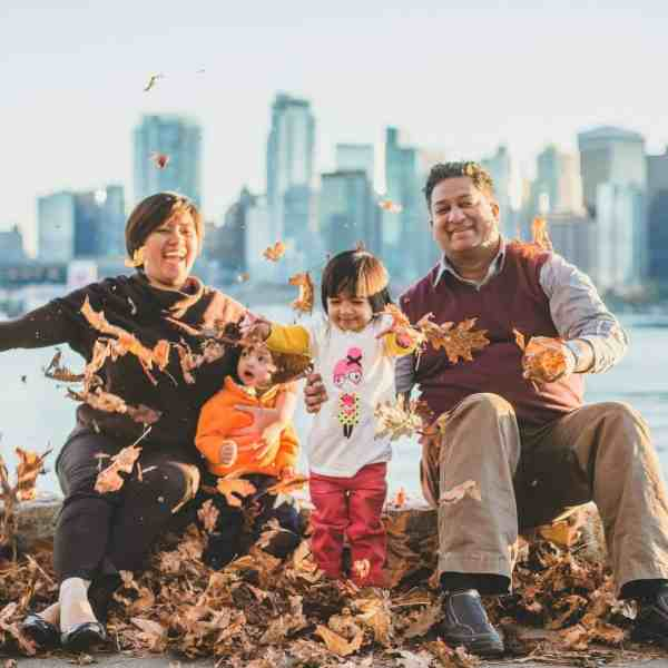 Best Things to Do in Vancouver Canada Ricky Shetty with family leaves Stanley Park