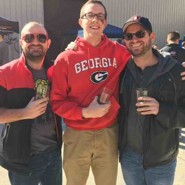 Best places to eat in Atlanta Georgia Pete McPherson with college buds at brewery
