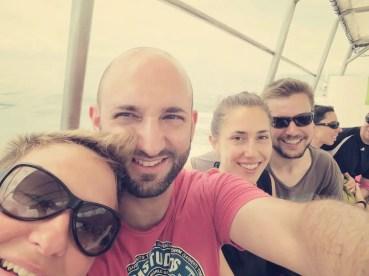 Zusammen mit Franzi und Anatol ging's zum Schnorcheln
