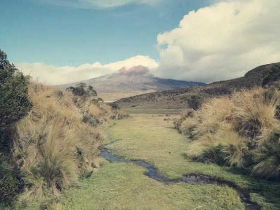 Blick vom Rundweg um die Limpiopungo Lagune