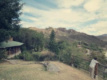 Blick vom Hostel auf Vilcabamba und Mandango