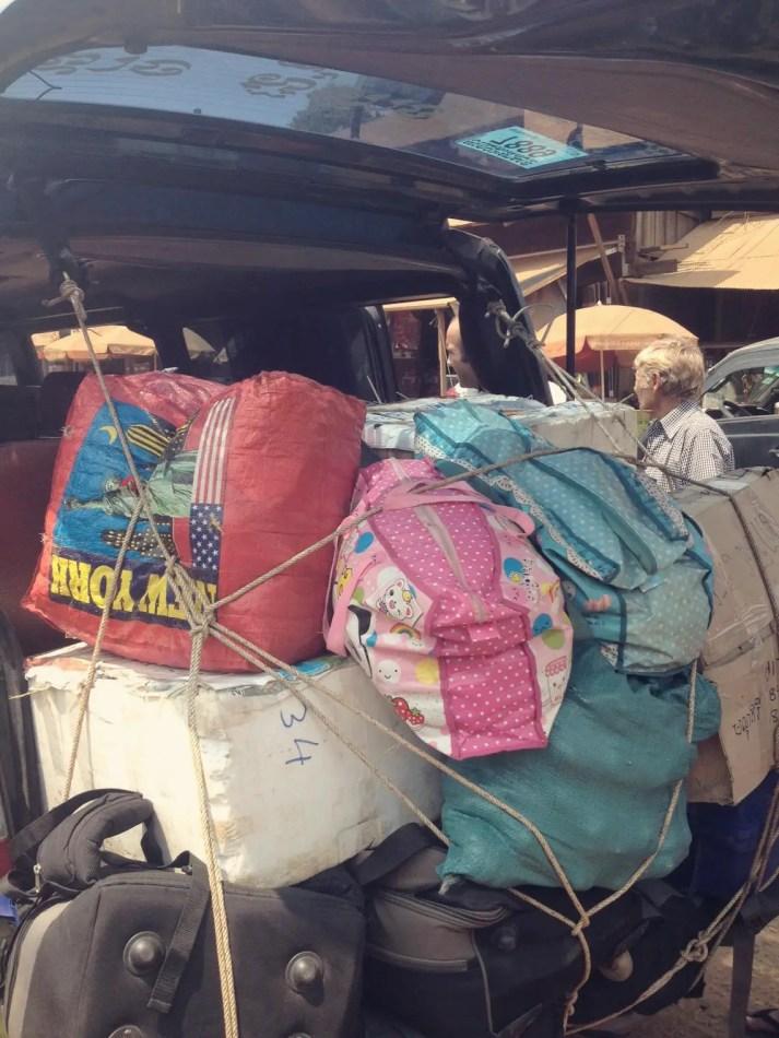So voll gepackt war der Minivan