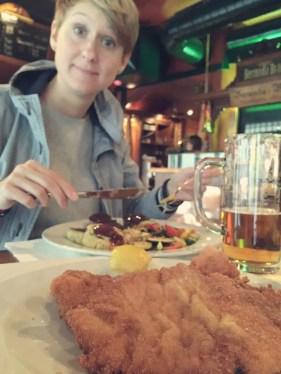 Schnitzel essen in Wien