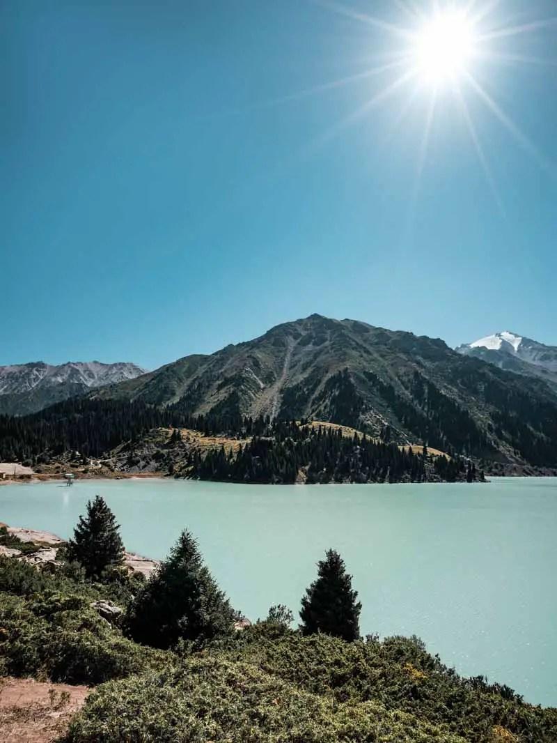 Big Almaty Lake in Kasachstan