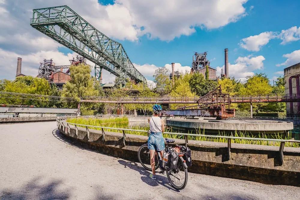 Radtour Ruhrgebiet - Landschapspark Duisburg
