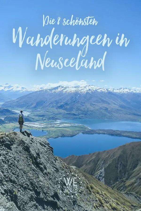 Neuseeland Reisen: Die 8 schönsten Wanderungen der Nord- und Südinsel #wandern #outdoor #roadtrip #trekking