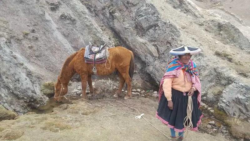 Einheimische Peru