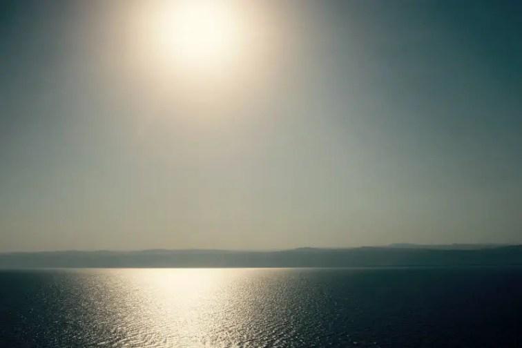 Sonne überm Toten Meer, Jordanien