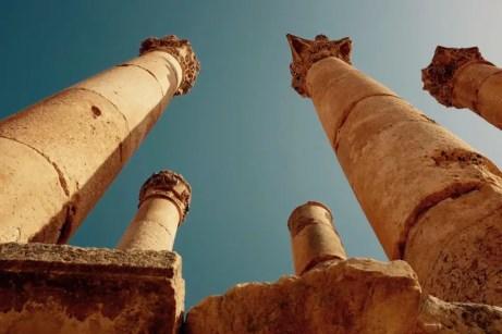 Säulen, Zeus-Tempel, Gerasa, Jordanien