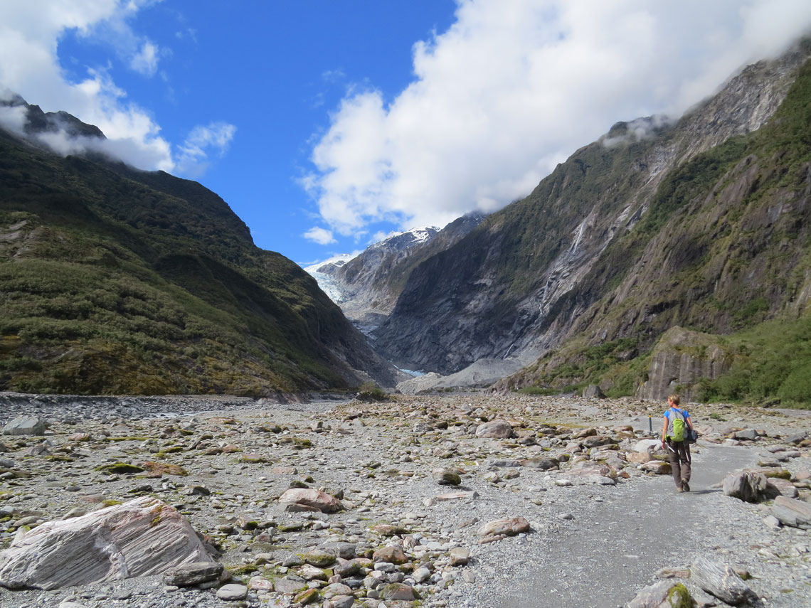 Auf dem Weg zum Gletscher