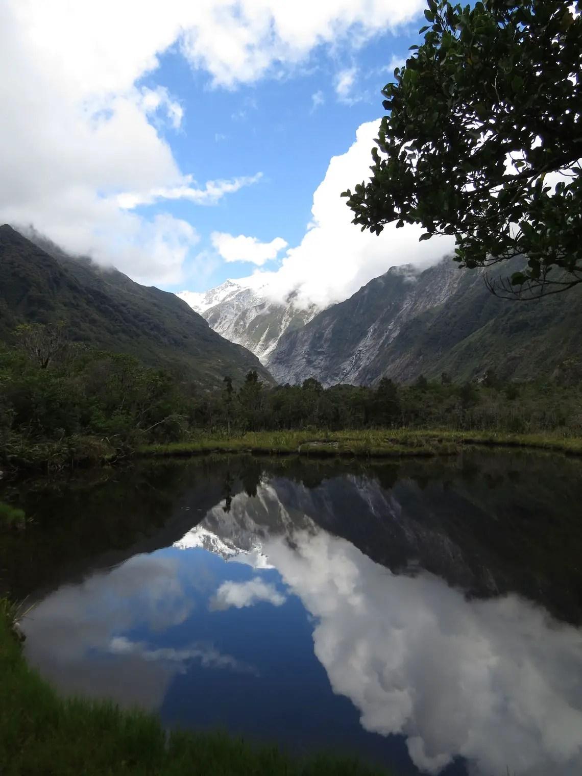 Mirrorlakes am Franz Josef Gletscher
