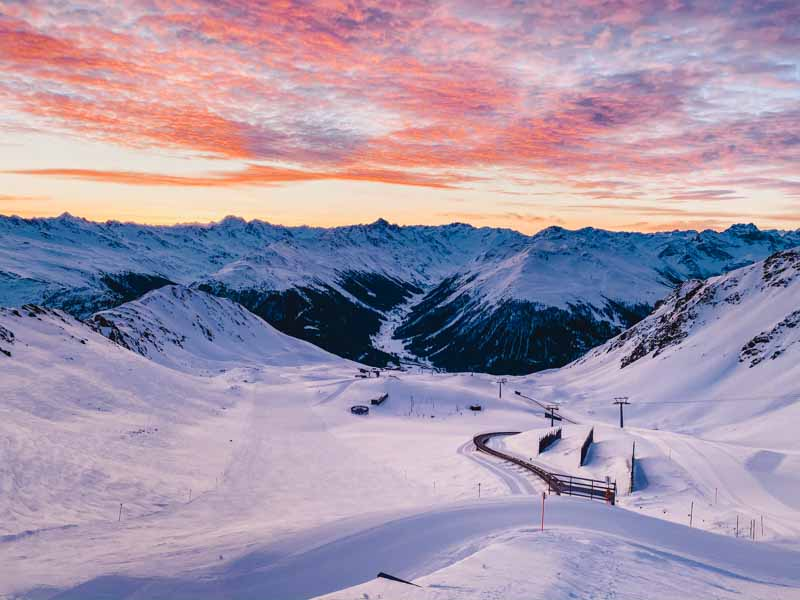 Zonsopgang boven Davos
