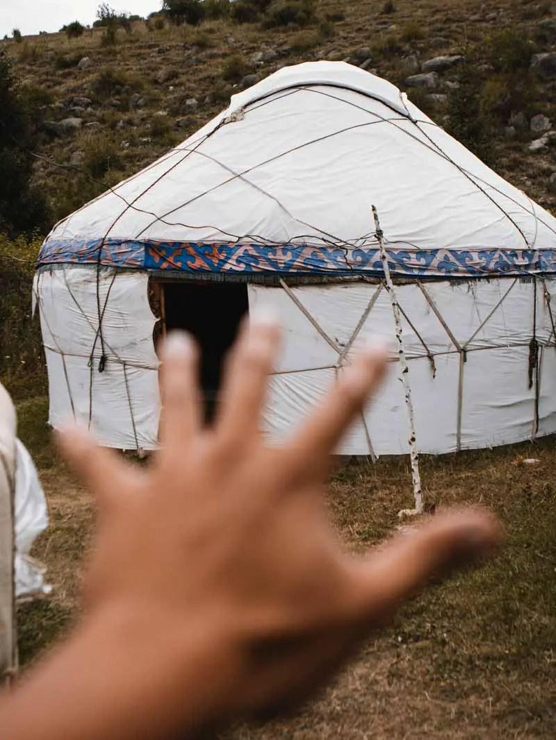 Een joertkamp in Kirgizië