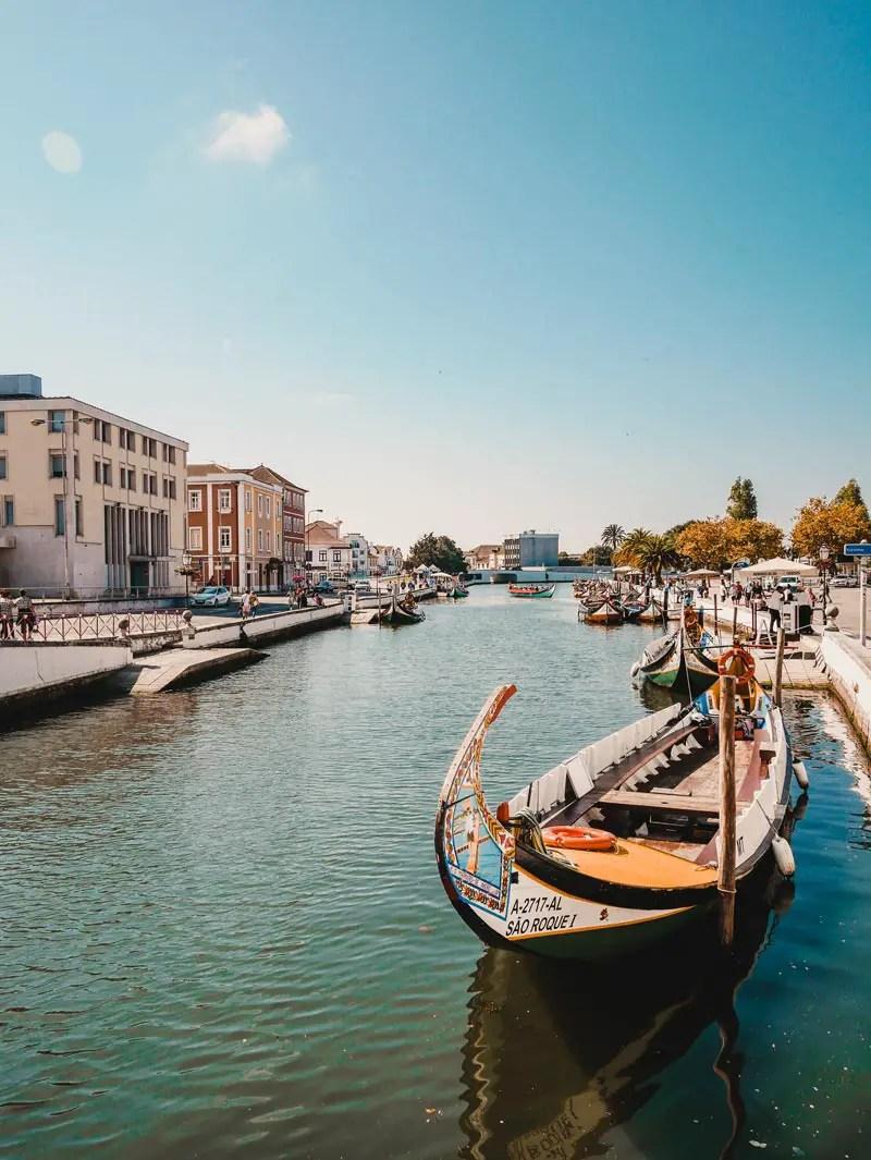 Portugal Aveiro bunte Boote