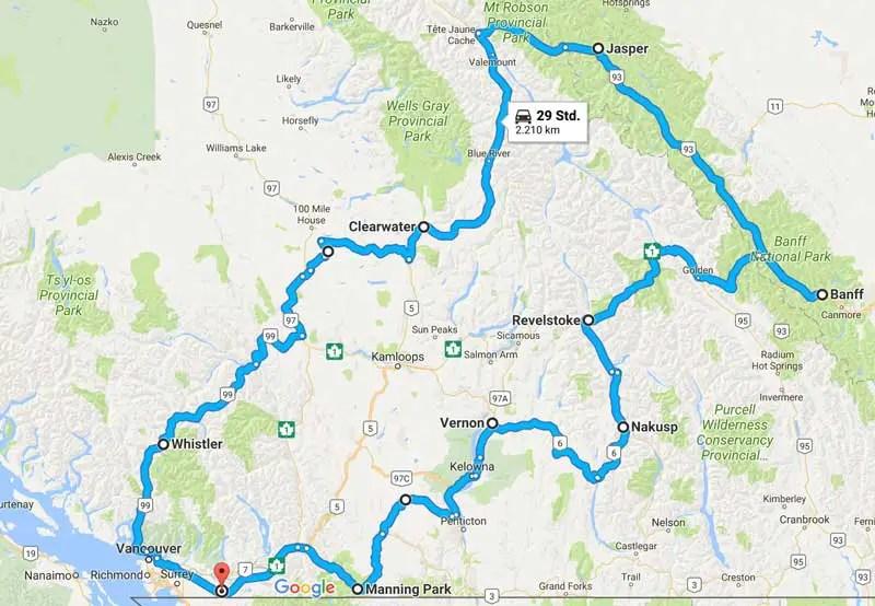 Route Kanada 3 Wochen