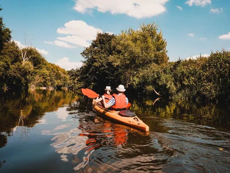 Saale Unstrut Kayak fahren