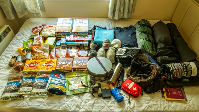 Arctic Circle Trail Packliste