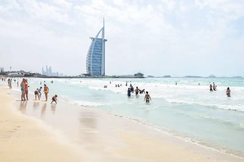 burj al arab beach