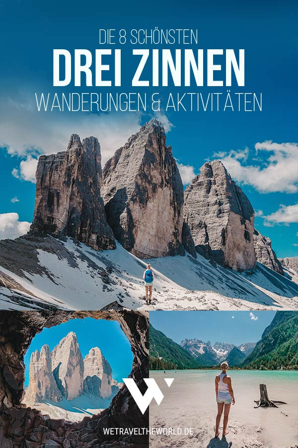 Dolomiten Tipps: Die 8 schönsten Wanderungen rund um die Drei Zinnen in Südtirol